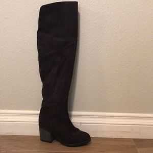 Bamboo black OTK boots (suede)